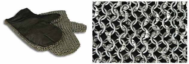 Medieval Chainmail Mittens