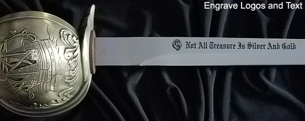 Custom Engraved Pirate Swords