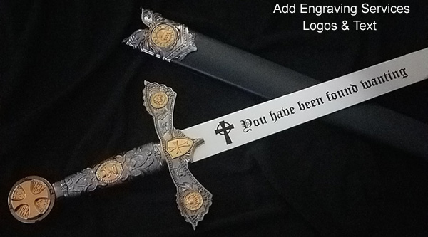 Custom Engraved Swords