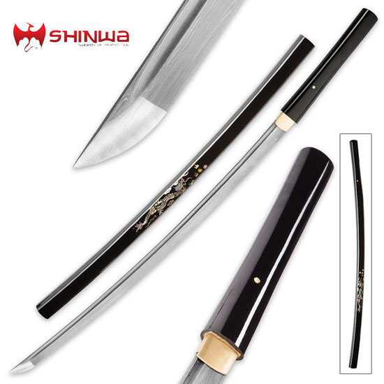 Pearl and Damascus Shirasaya Swords