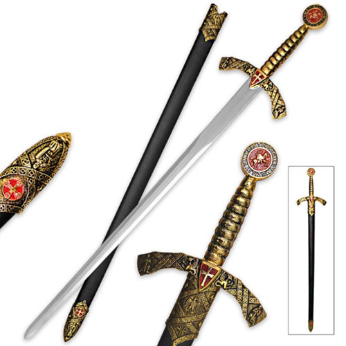 Golden Knight Middle Ages Swords