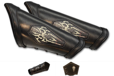 LeatherWorks Necromancer Black Bracers