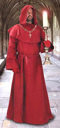 Medieval Monks Robes in Red