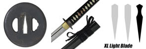Practical XL Light Katana Swords