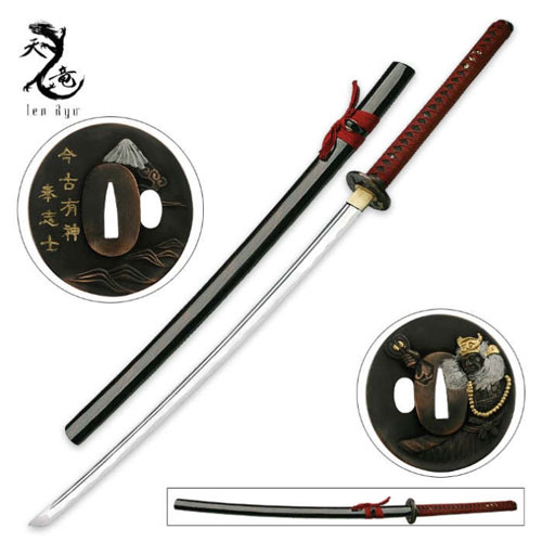 Red Mountain Samurai Katana Swords