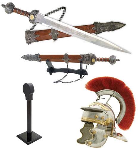 Roman Sword and Helmet Combo