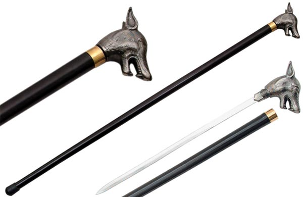 Wolf Head Sword Canes